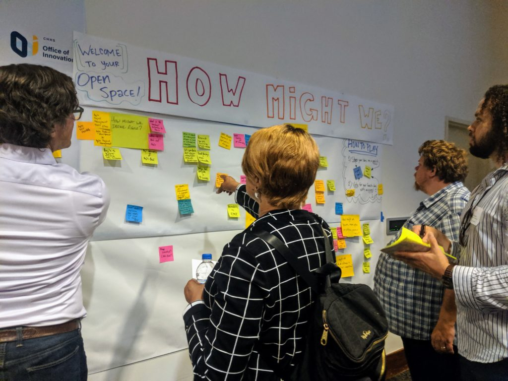 Ideation wall at AGL Summit
